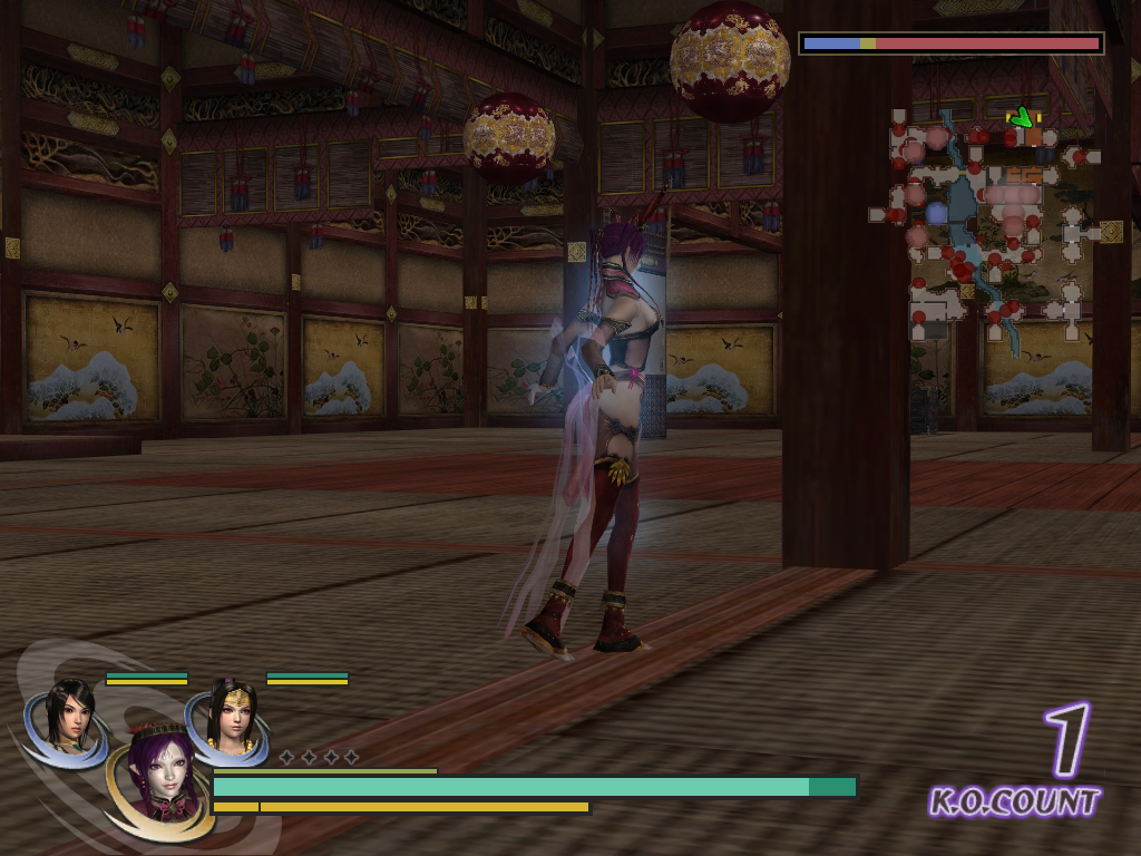 Warriors Orochi Windows The camera can be fully rotated around the character. It can also be tilted up and down a bit. Of course, this only serves gameplay purposes... The defense key brings back the camera behind.