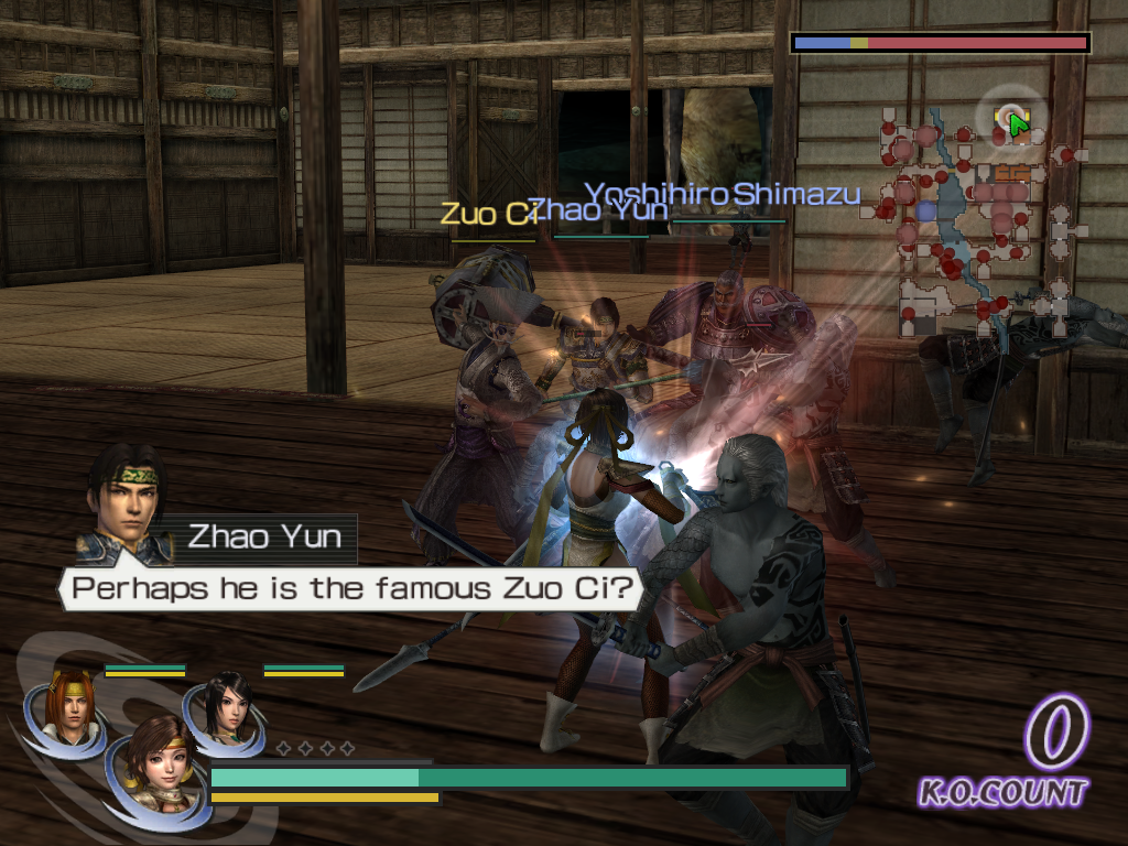 Warriors Orochi Windows If you don't play as a character needed for the level story, he/she will be CPU controlled.    Of course, characters can't read the screen, otherwise Zhao Yun would already know the answer.