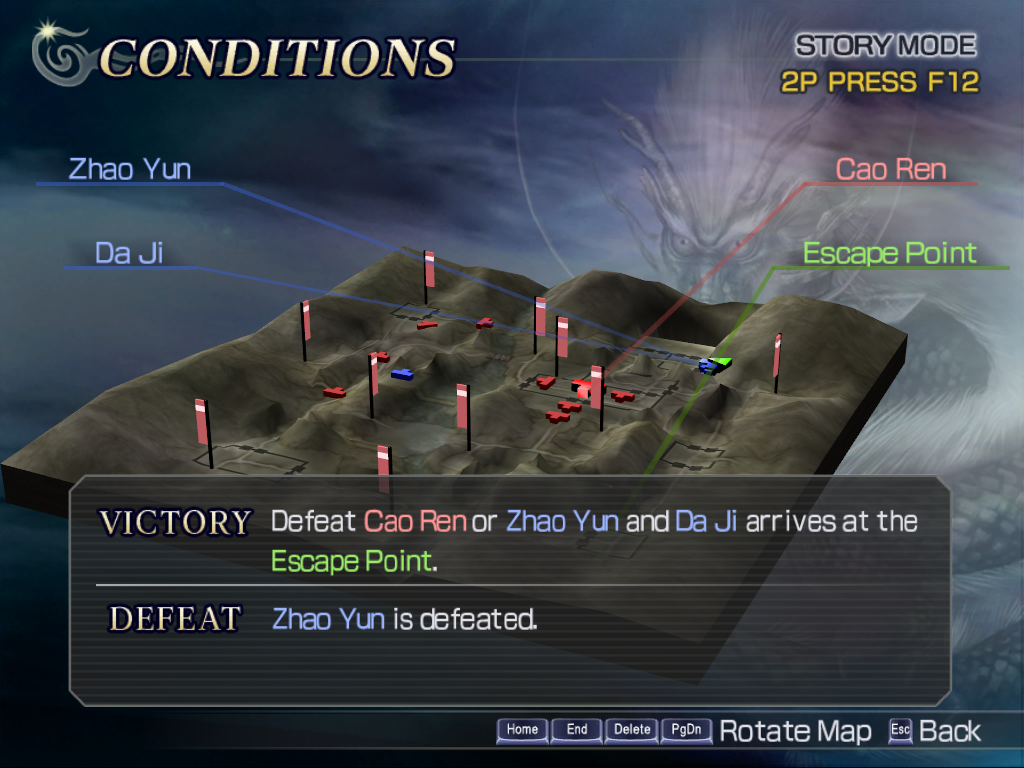 Warriors Orochi Windows Some levels can be won in different manners. Here, you can either fight your way to the escape point or go and defeat the officer in chief.