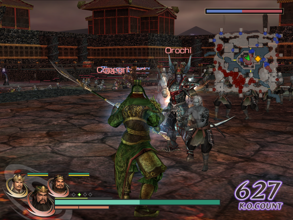 Warriors Orochi Windows Here, Guan Yu is fighting, face to face, the final battle with the evil Orochi.