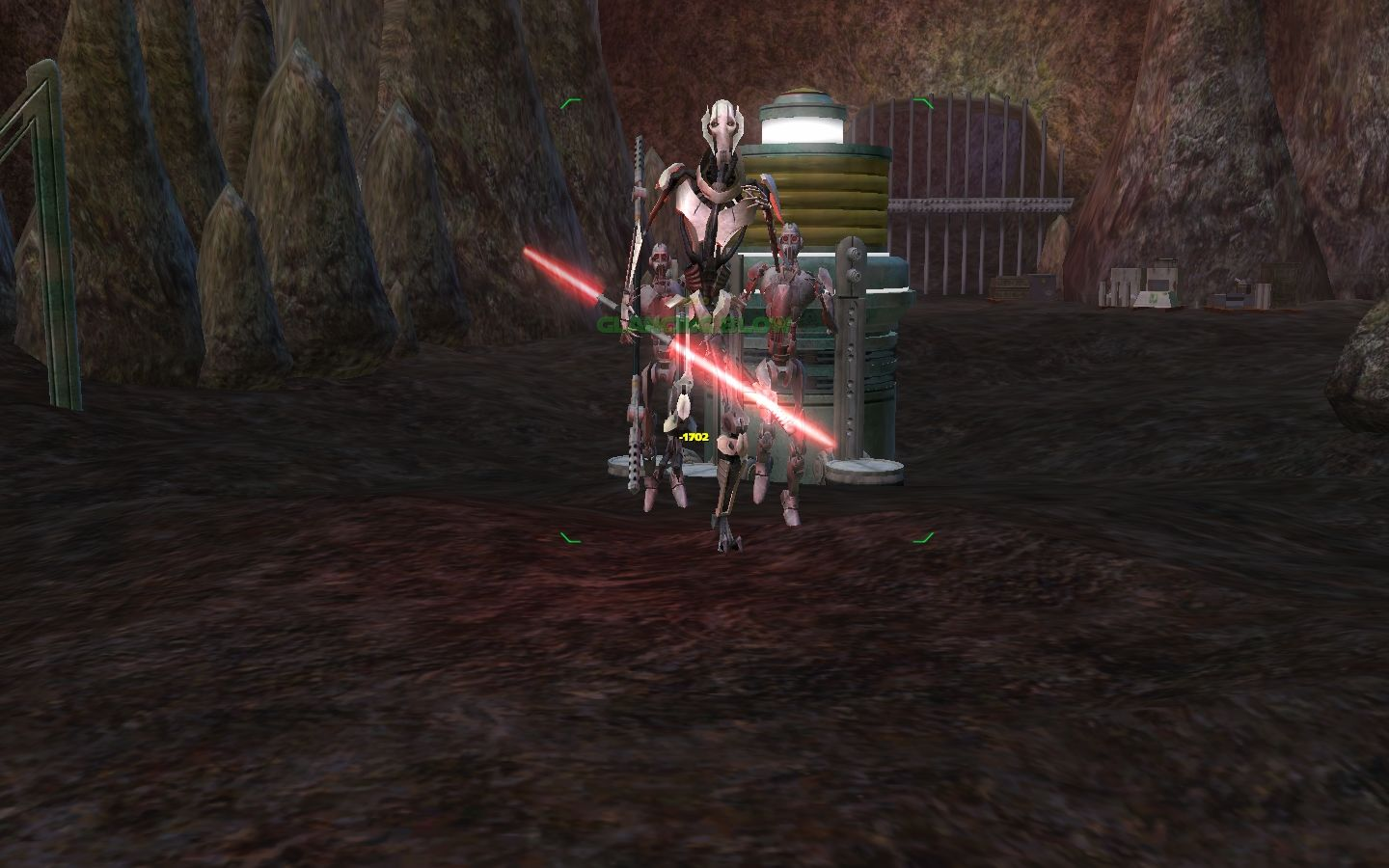 "Star Wars: Galaxies - Episode III Rage of the Wookiees Windows Elite boss ""N-K Necrosis.""  Any resemblance to General Grievous is purely intentional."