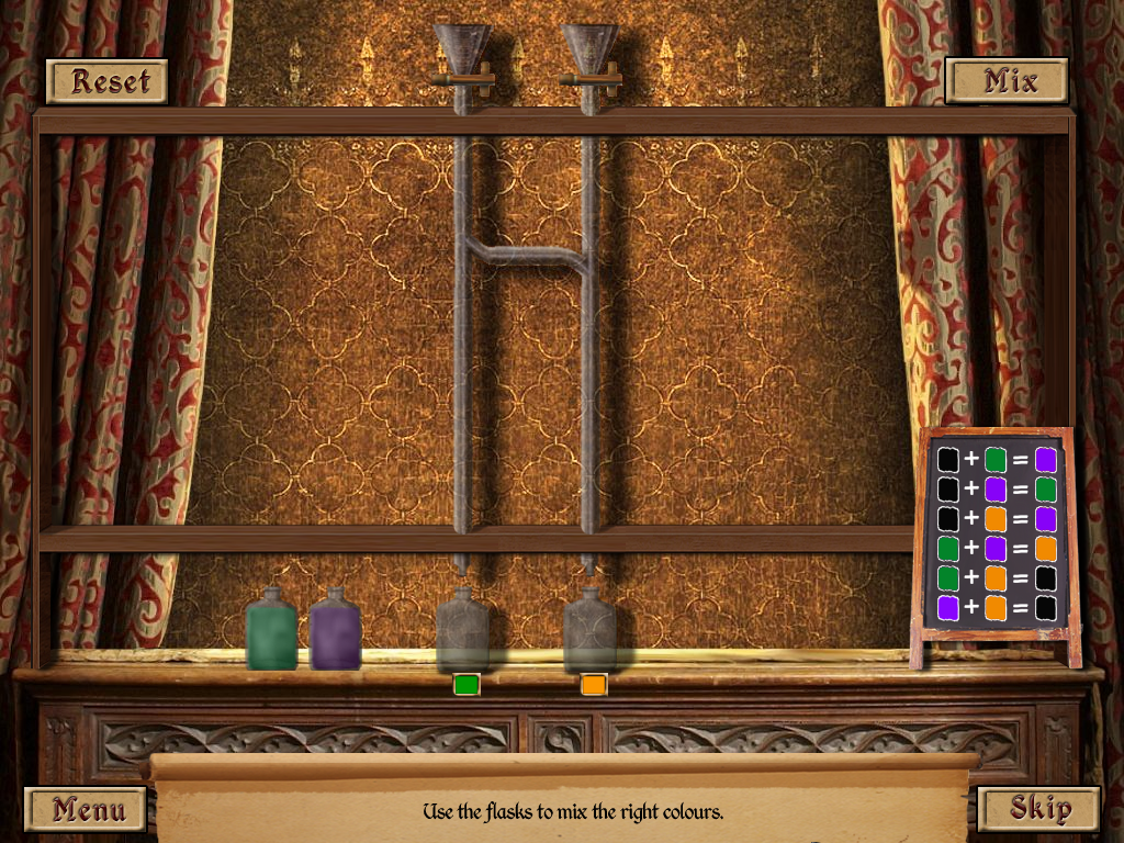 The Tudors Windows Potion mini-game