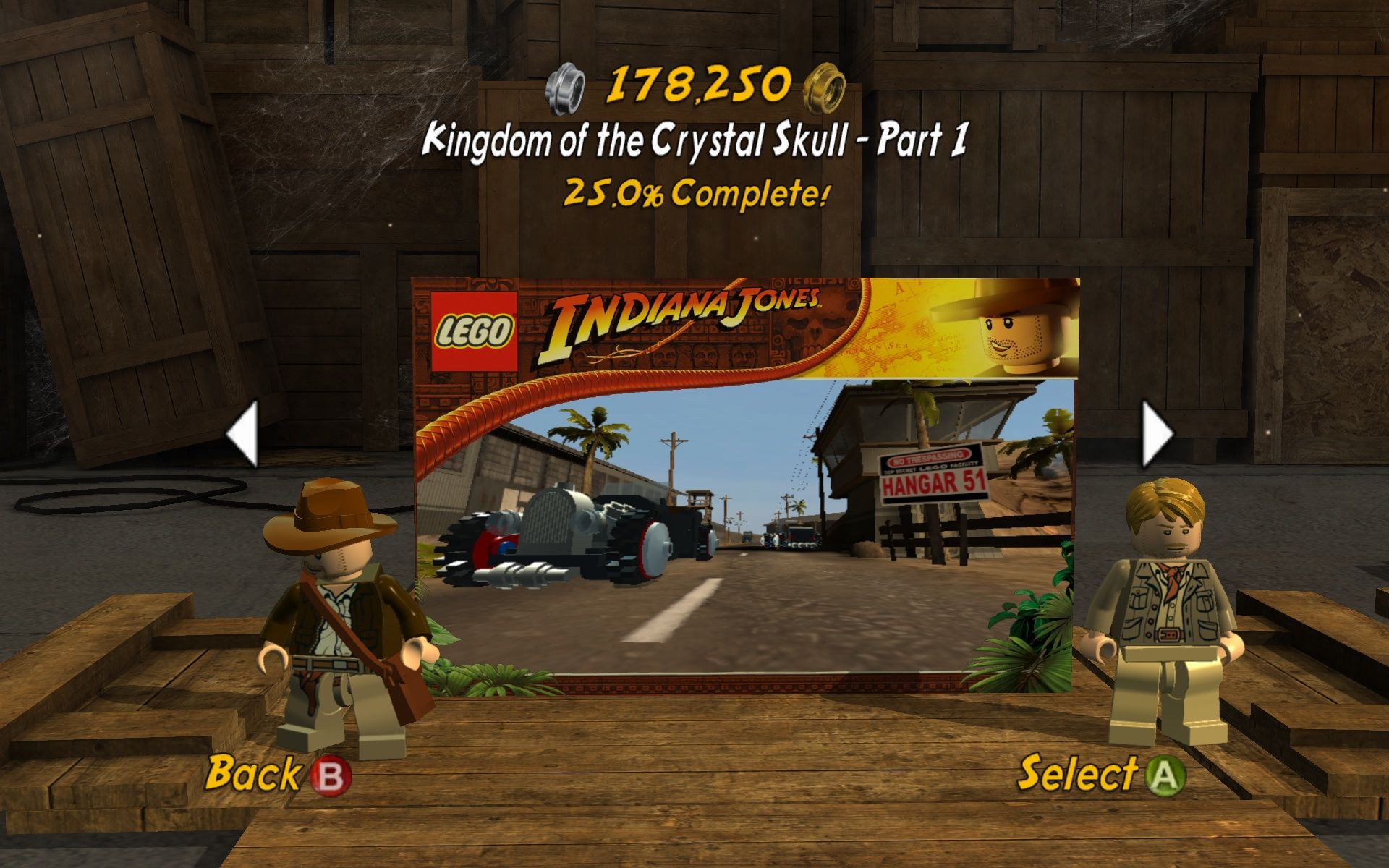 LEGO Indiana Jones 2: The Adventure Continues  Windows Select your campaign.