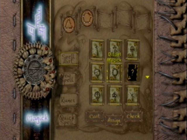 Eternal Darkness: Sanity's Requiem GameCube More spells become available as you uncover them.