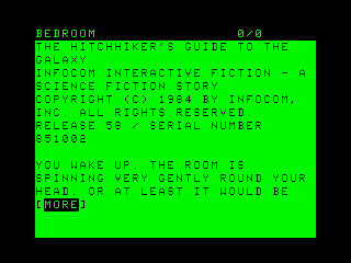 The Hitchhiker's Guide to the Galaxy TRS-80 CoCo Title and intro part 1