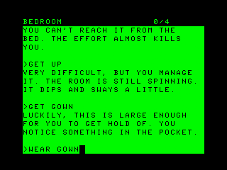The Hitchhiker's Guide to the Galaxy TRS-80 CoCo Trying to wake up in the morning