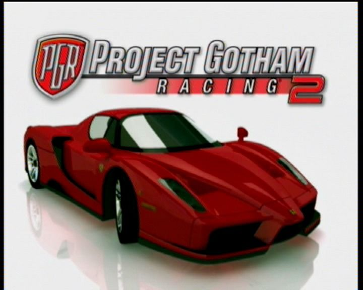 Project Gotham Racing 2 Xbox Title screen