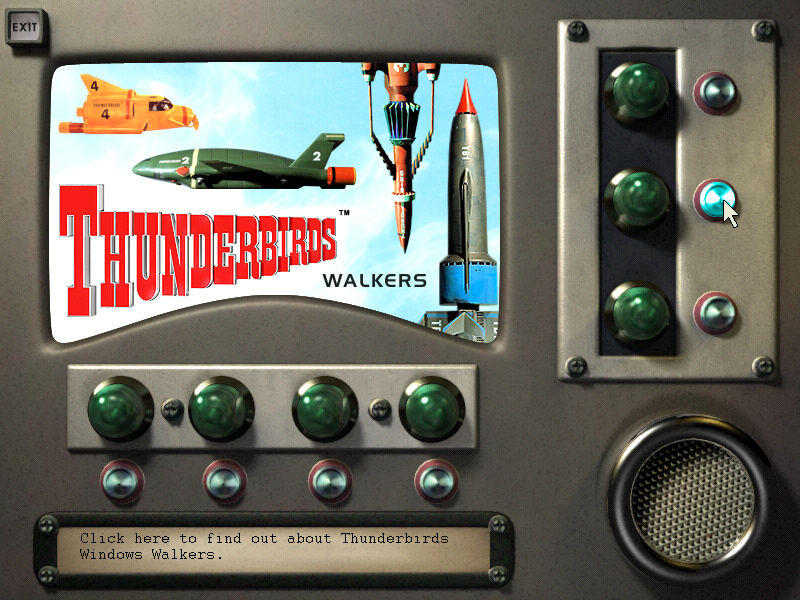 Thunderbirds: F.A.B. Action Pack Windows Main menu