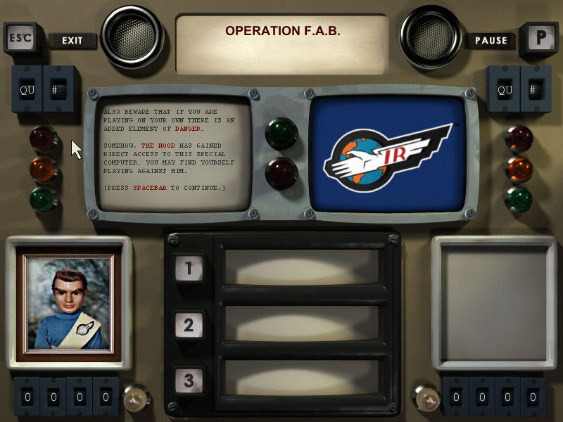 Thunderbirds: F.A.B. Action Pack Windows It's dangerous to play with yourself. Hidden message or not?