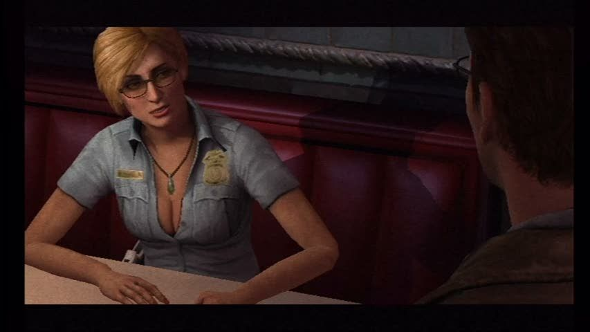 Silent Hill: Shattered Memories Wii Sexy Cybil. Her appearance changes based on your answers to the psych tests.