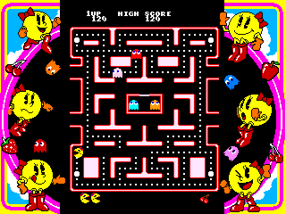 Namco Museum Vol. 3 PlayStation Ms. Pac-Man first maze