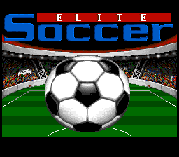 Elite Soccer SNES Title screen