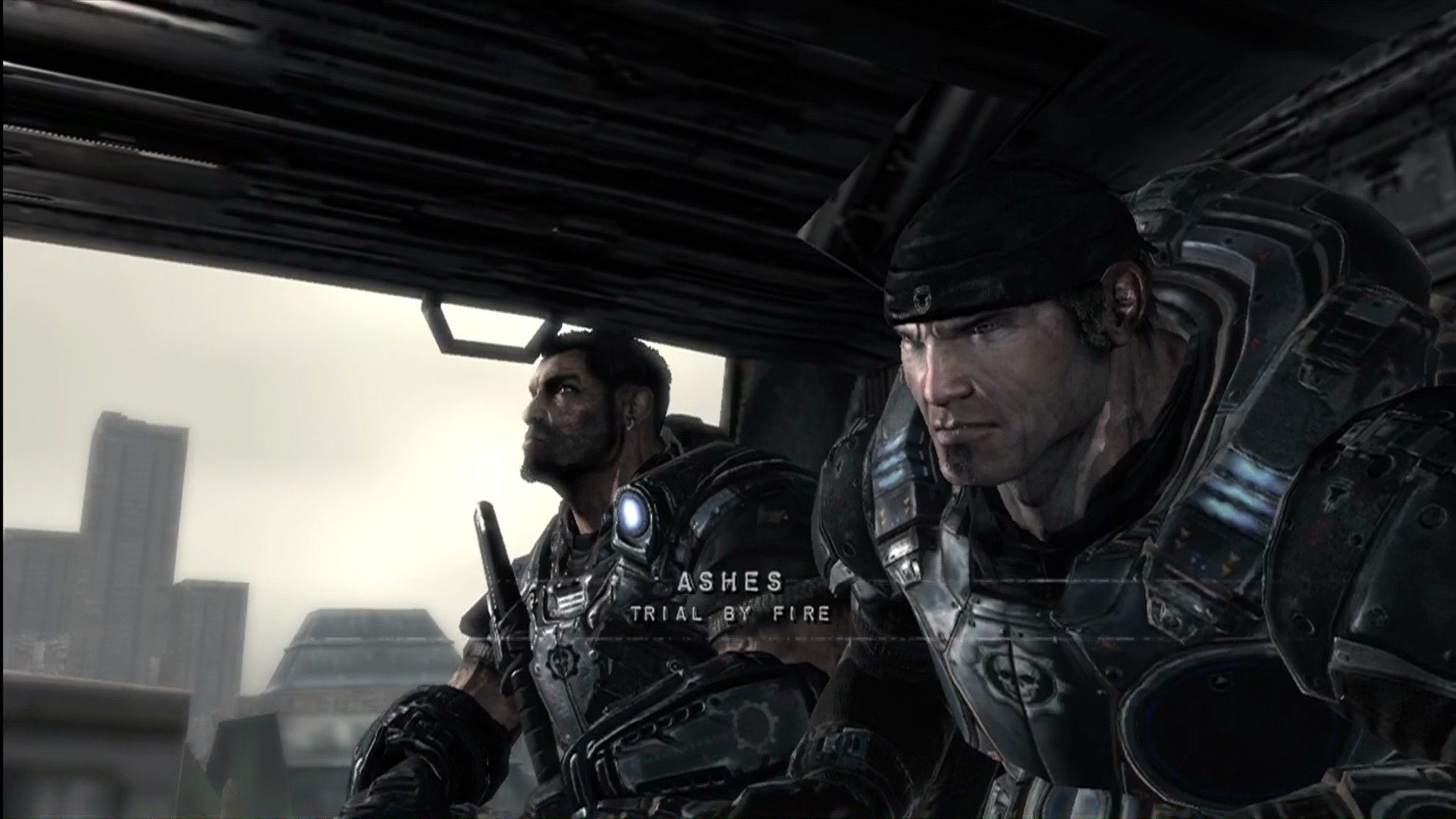 Gears of War Xbox 360 Marcus Fenix, freshly out of prison