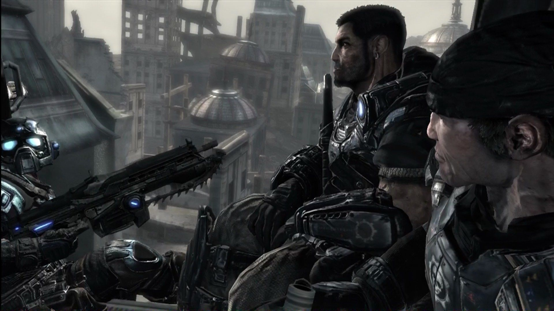 Gears of War Xbox 360 Dom and a rookie chat it up