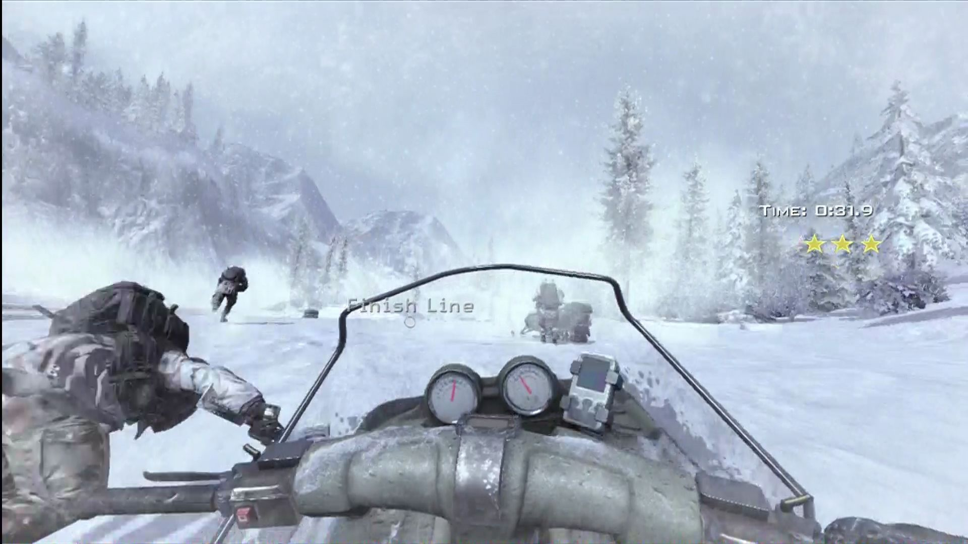 Call of Duty: Modern Warfare 2 Xbox 360 A race mission in Special Ops, based off a scene in the campaign.