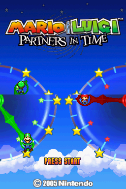 Mario & Luigi: Partners in Time Nintendo DS Title screen