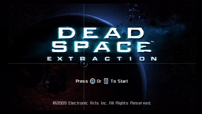 Dead Space: Extraction Wii Title screen