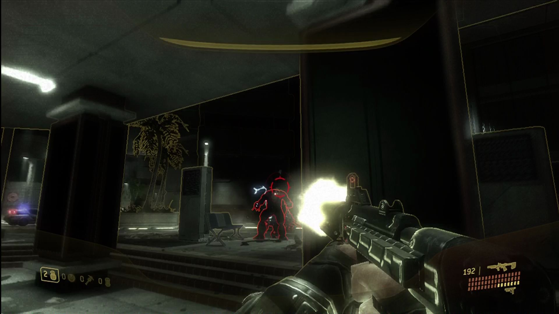 Halo 3: ODST Xbox 360 Trying out the new silenced SMG.