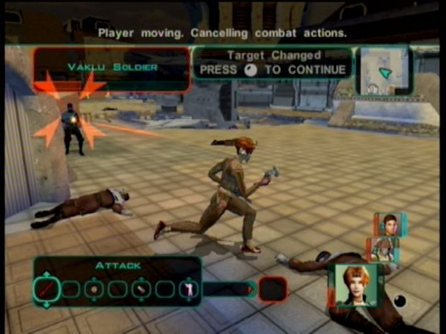 Star Wars: Knights of the Old Republic II - The Sith Lords Xbox Depending upon the controlling character, your weapons and fighting style will change.