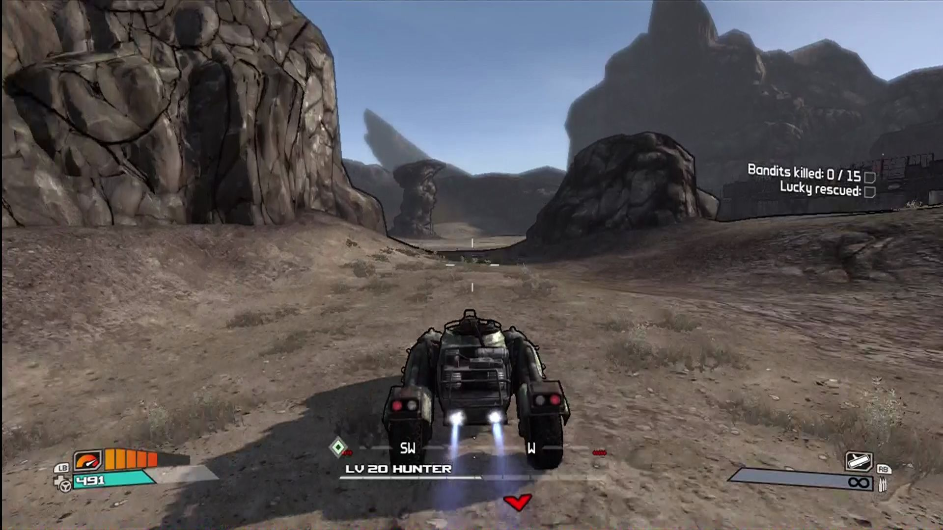Borderlands Xbox 360 Hitting the afterburners
