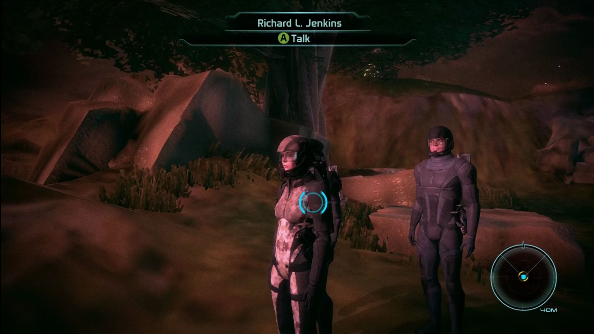 Mass Effect Xbox 360 The Xbox version has noticeable issues with texture draw-in. Here's the scene as it first loads.