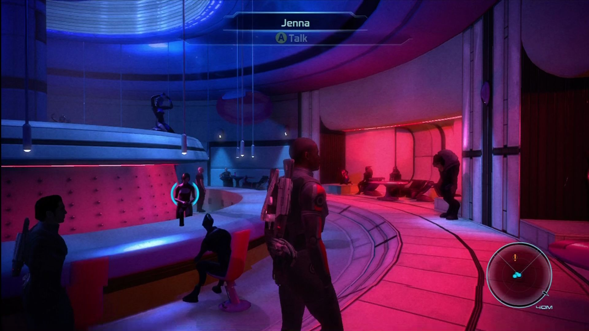 Mass Effect Xbox 360 Looking for informants in a space nightclub.