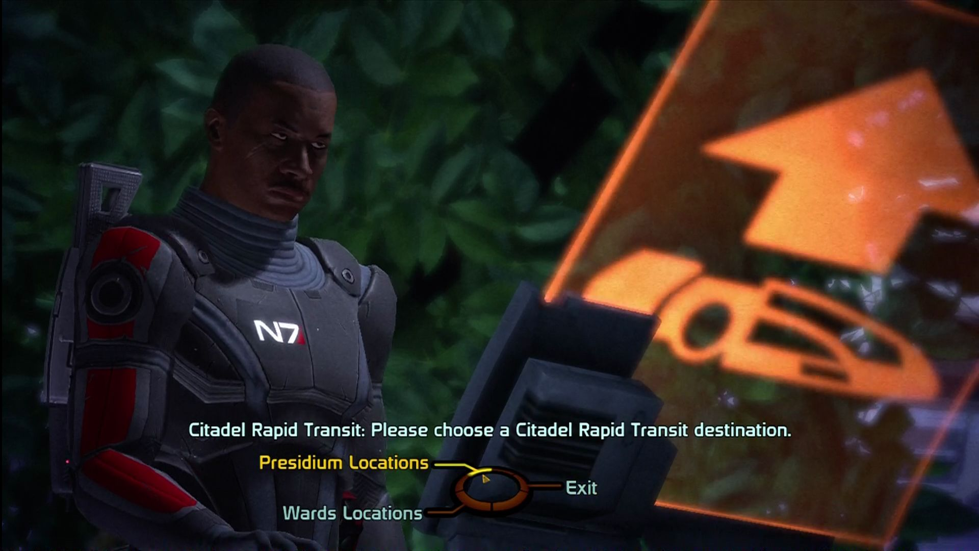 Mass Effect Xbox 360 Rapid transit helps you get around quick.
