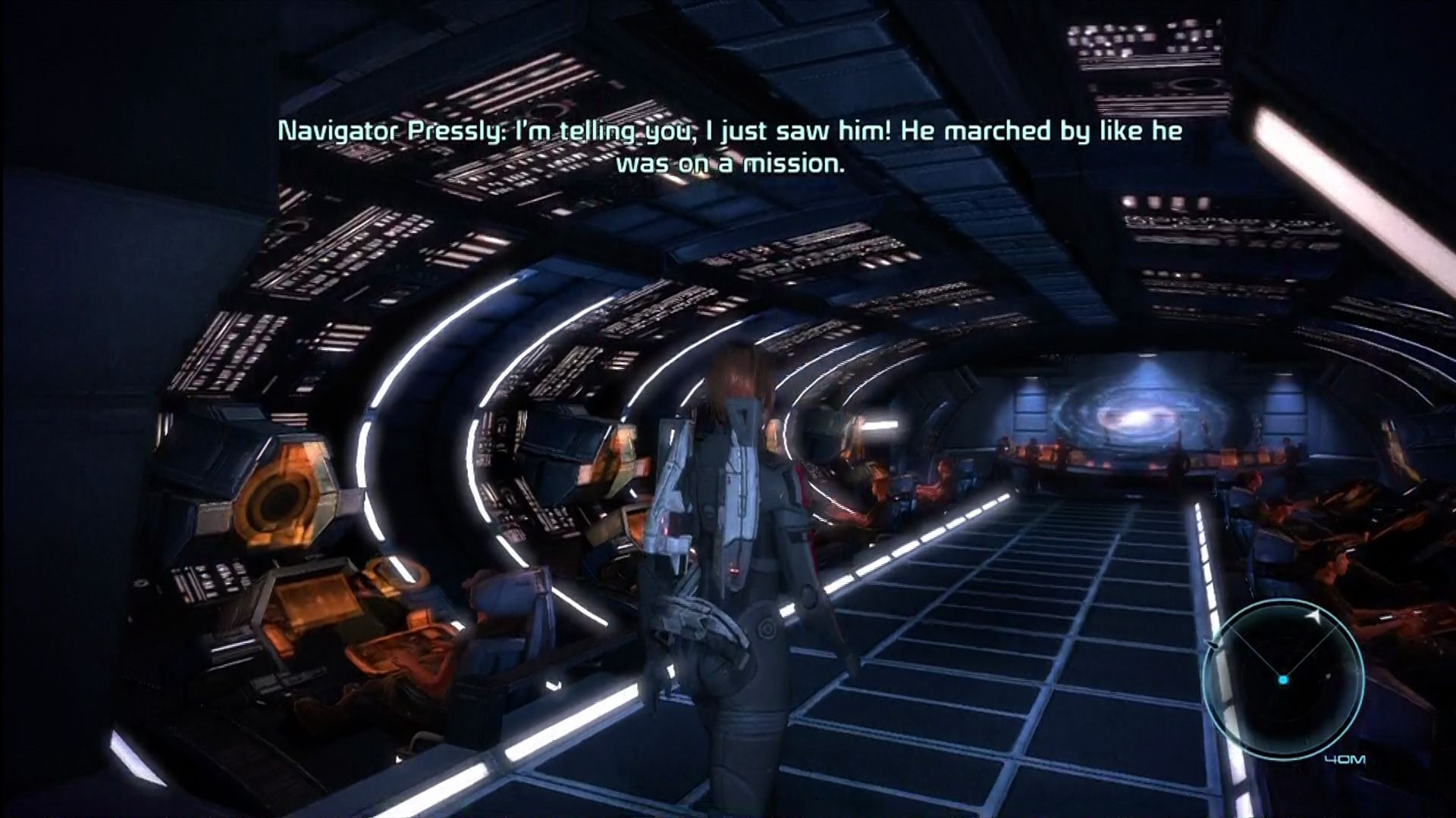 Mass Effect Xbox 360 On the bridge of the Normandy