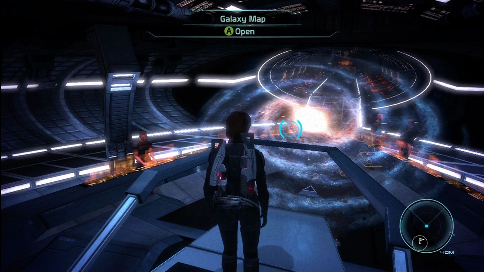 Mass Effect Xbox 360 The galactic map, where you choose your next destination.