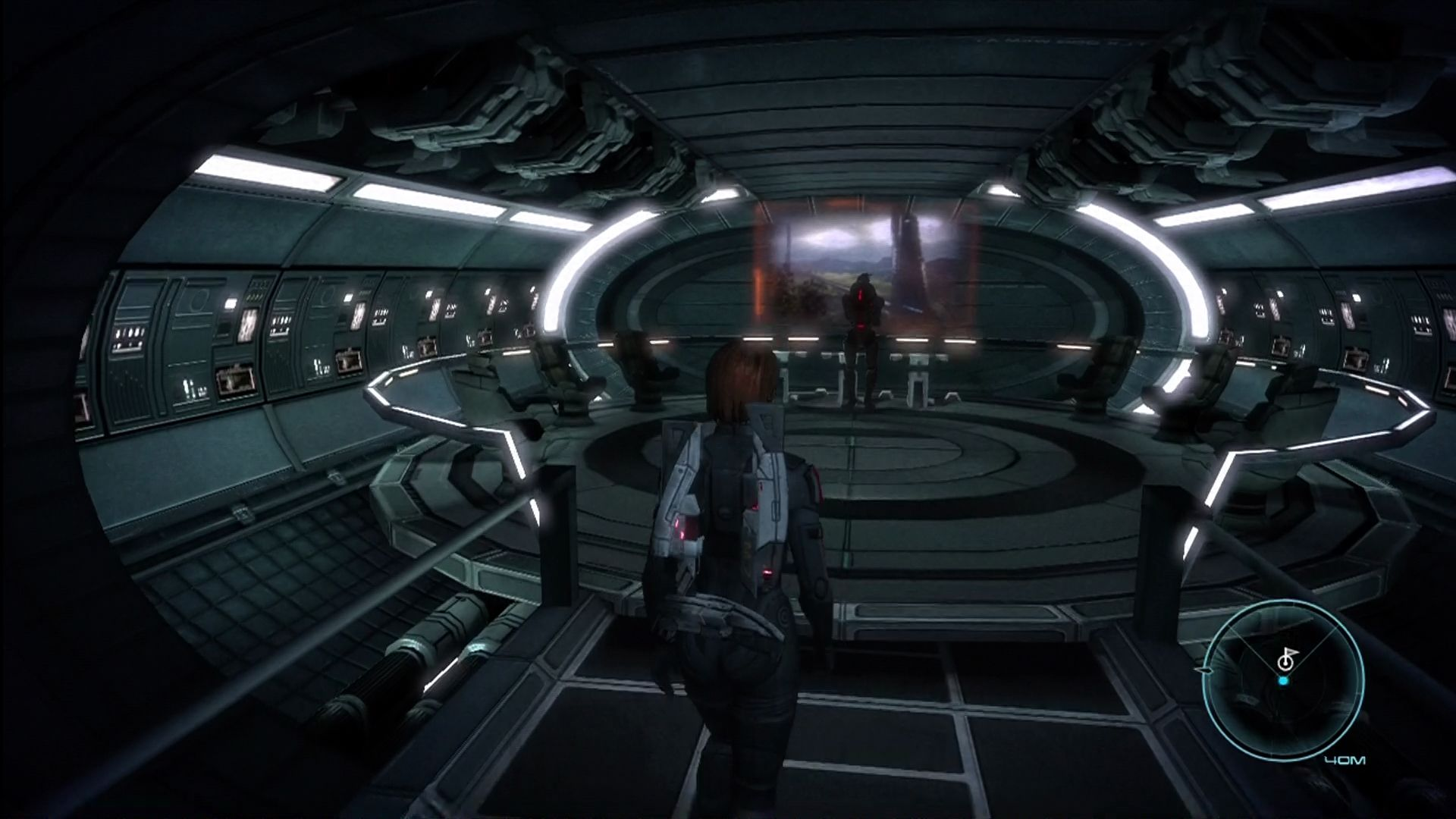 Mass Effect Xbox 360 Into the communications room to start the first mission.