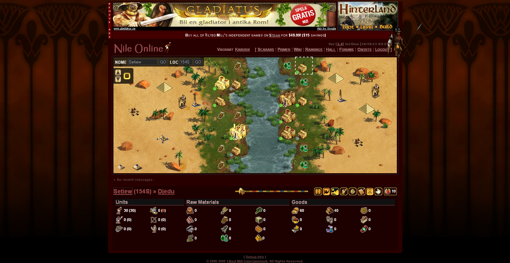 Immortal cities nile online screenshots for browser mobygames immortal cities nile online browser world map gumiabroncs Gallery