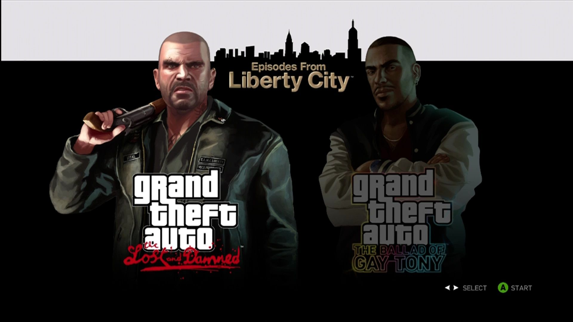 Grand Theft Auto: Episodes from Liberty City Xbox 360 Insert the disc and pick a DLC to play.
