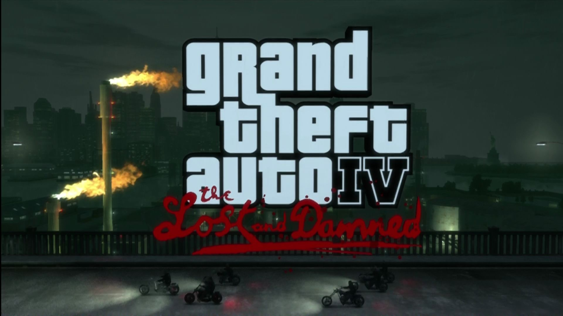 Grand Theft Auto IV: The Lost and Damned Xbox 360 Title screen