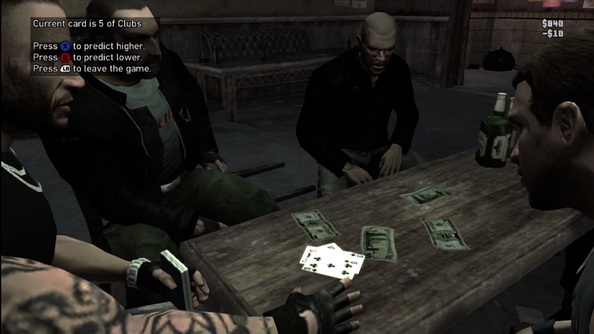 Grand Theft Auto IV: The Lost and Damned Xbox 360 You can play High-Low with your buddies for extra cash.