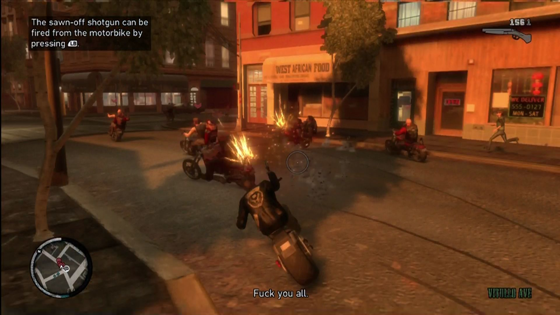 Grand Theft Auto IV: The Lost and Damned Xbox 360 Lots of motorcycle combat. Hope you can aim and drive at the same time.