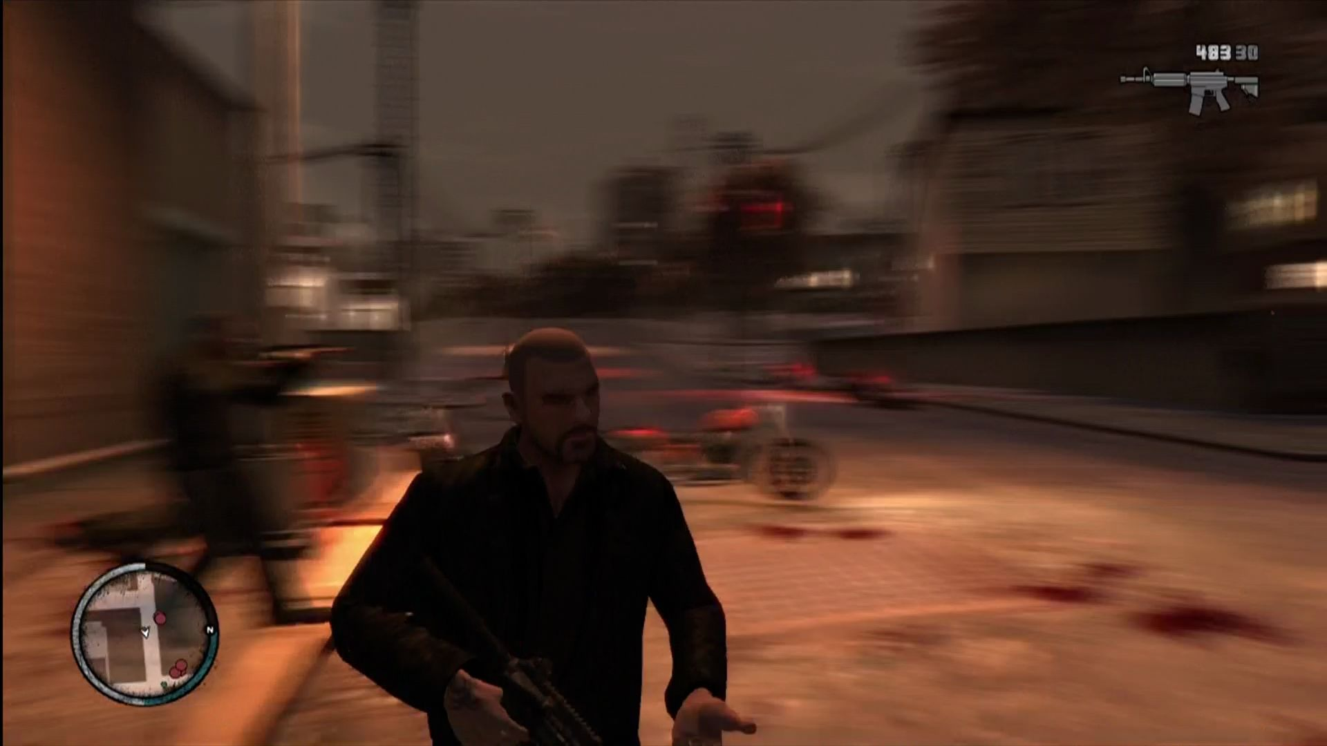 Grand Theft Auto IV: The Lost and Damned Xbox 360 Heavy use of motion blur for dramatic effect.