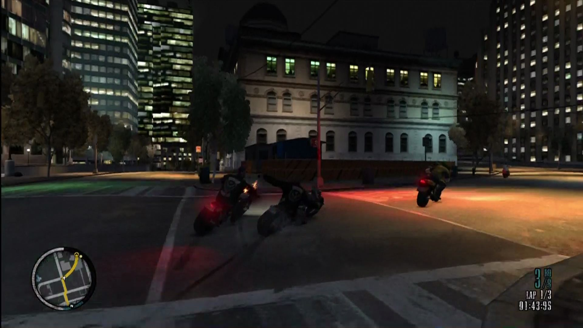 "Grand Theft Auto IV: The Lost and Damned Xbox 360 You can compete in street races, and whack people off their bikes, <moby game=""Road Rash"">Road Rash</moby>-style."