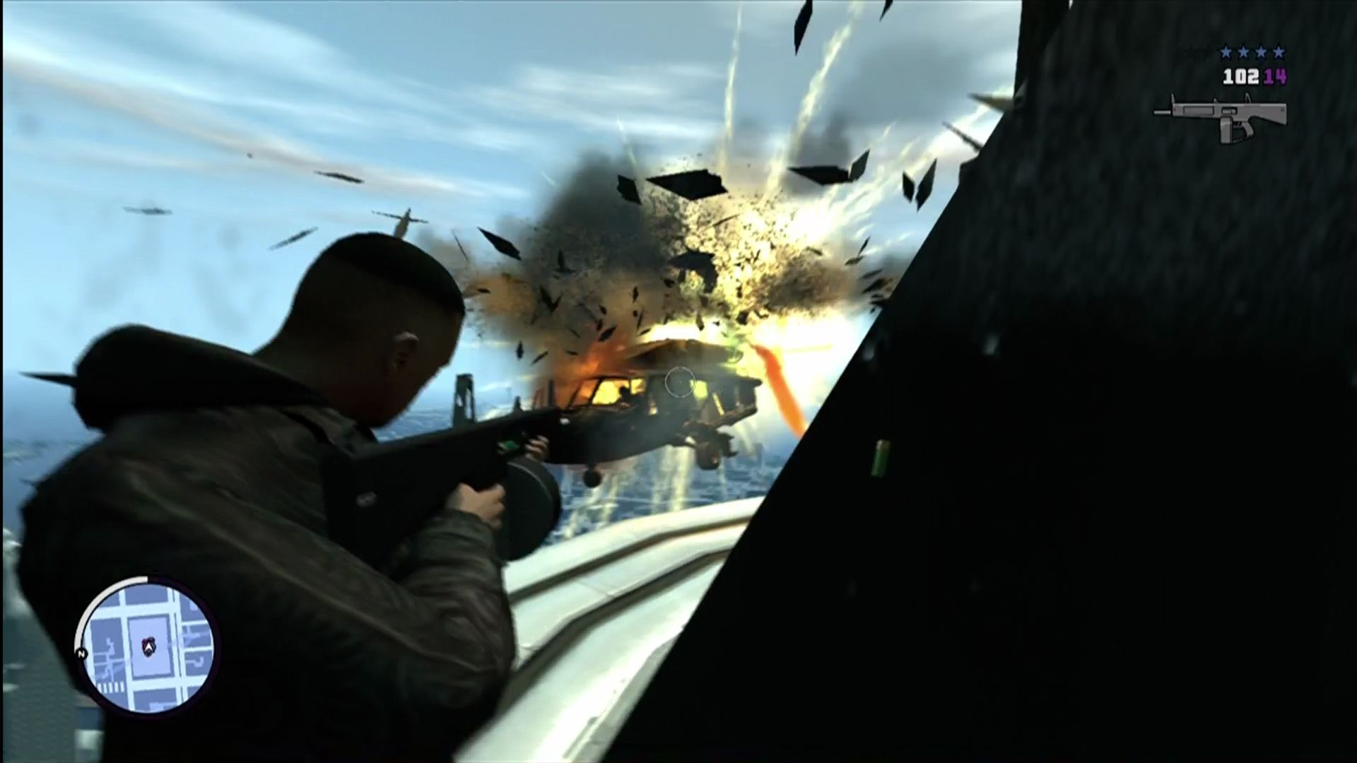 Grand Theft Auto: The Ballad of Gay Tony Xbox 360 New automatic shotgun with exploding shells. I like!