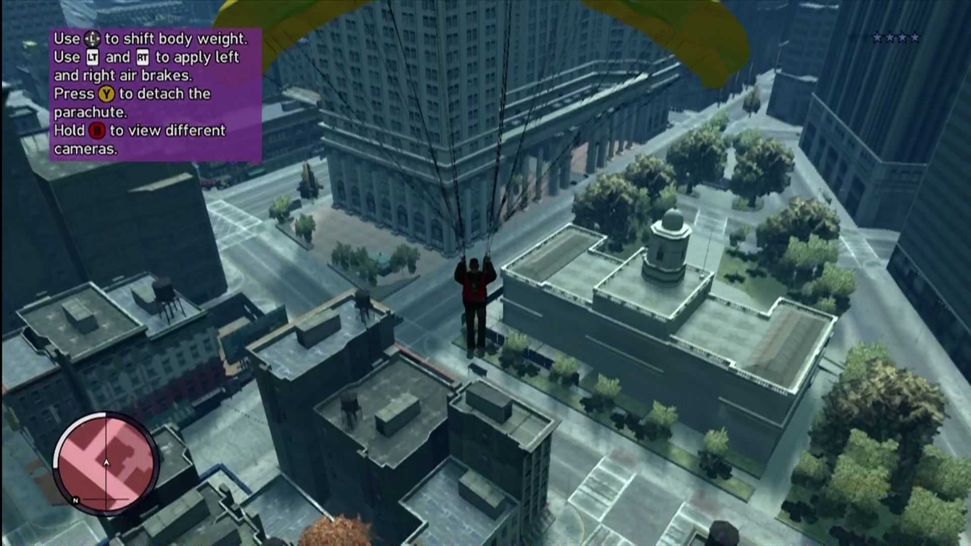 Grand Theft Auto: The Ballad of Gay Tony Xbox 360 The extra height allows for base jumping and parachuting.