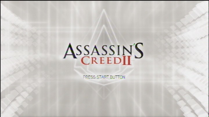 Assassin's Creed II PlayStation 3 Title screen