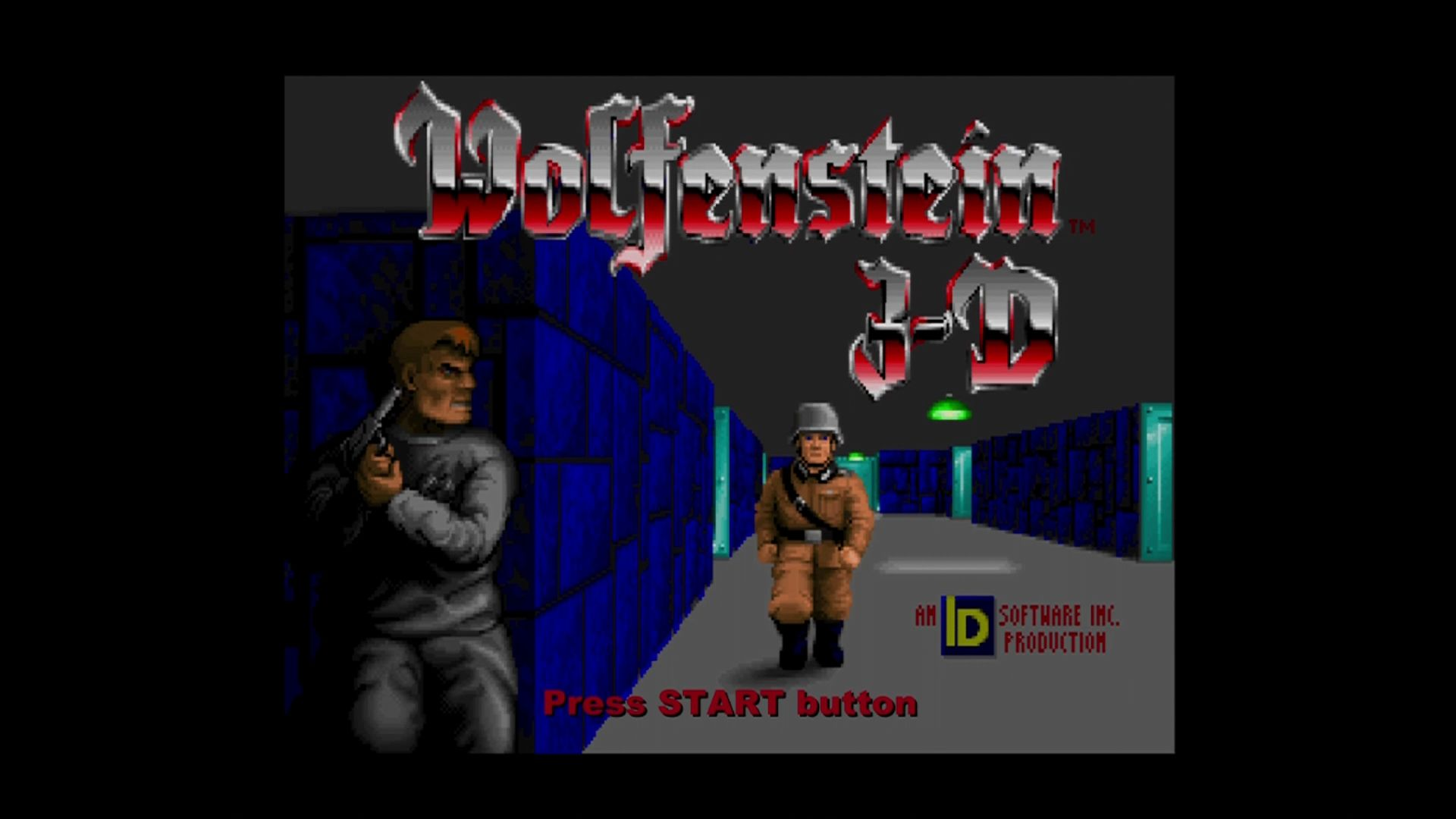 Wolfenstein 3D Xbox 360 Title screen.
