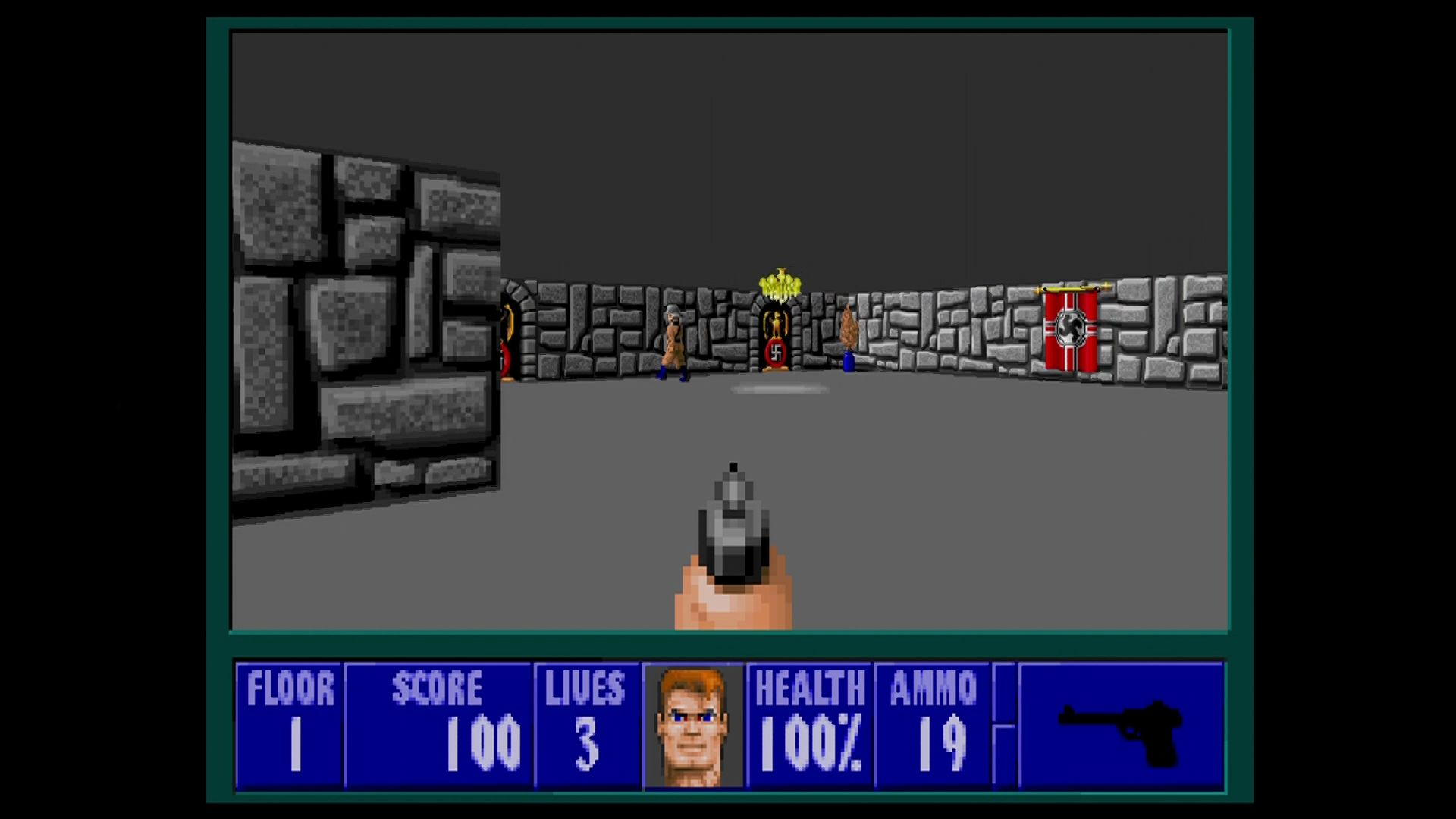 Wolfenstein 3D Xbox 360 Unlike older console ports, the enemies keep their angle-view sprites.