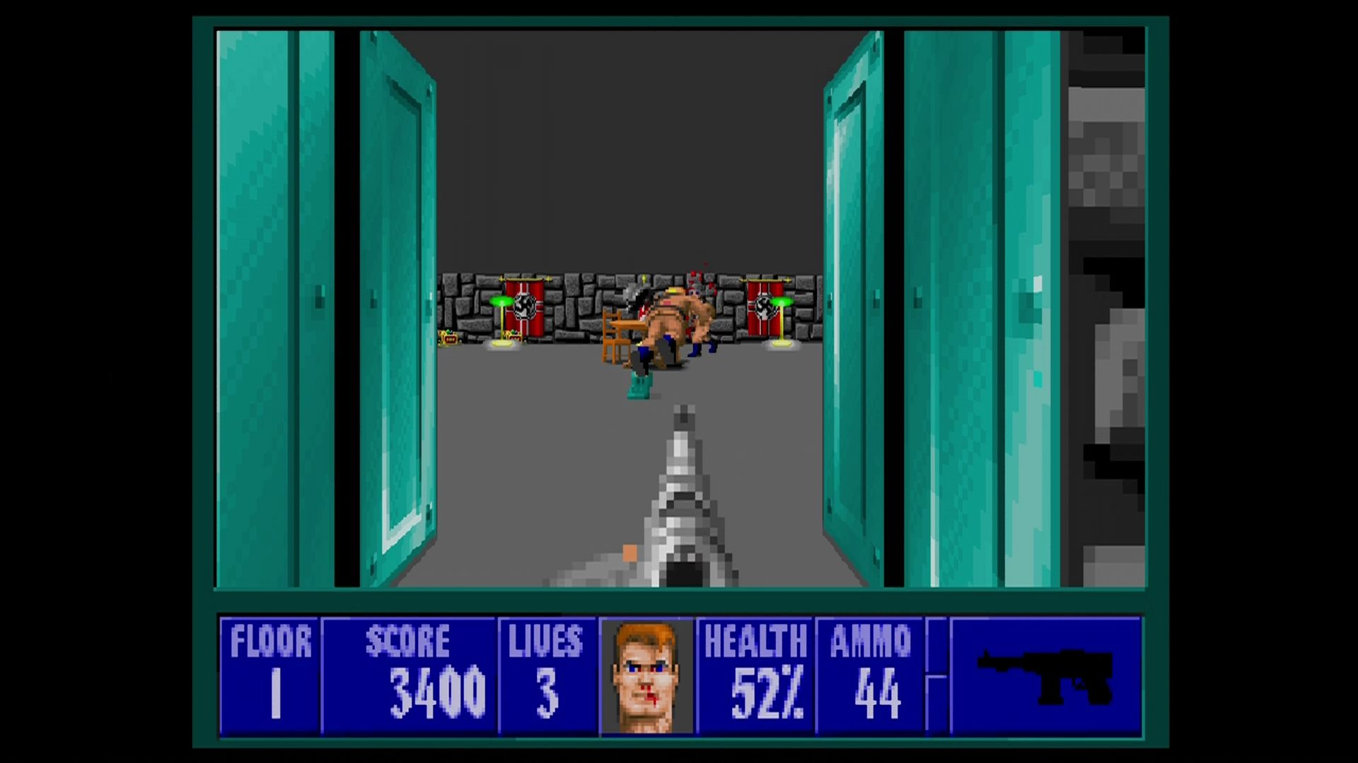 Wolfenstein 3D Xbox 360 The results are too good to have simply scaled the original art. But any redrawing is subtle.