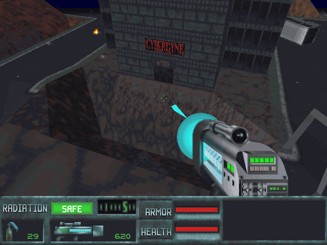 SkyNET DOS Entering the Cyberdyne building is the first step to completing mission 3. It seems like a bomb exploded at the entrance, so entering by the front is not possible. Maybe there is a way to the roof.