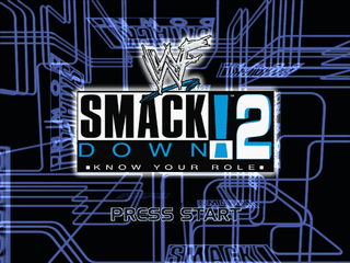 WWF Smackdown! 2: Know Your Role PlayStation Start screen