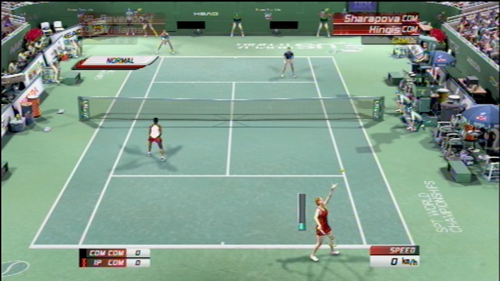 Virtua Tennis 3 PlayStation 3 Servicing the ball.