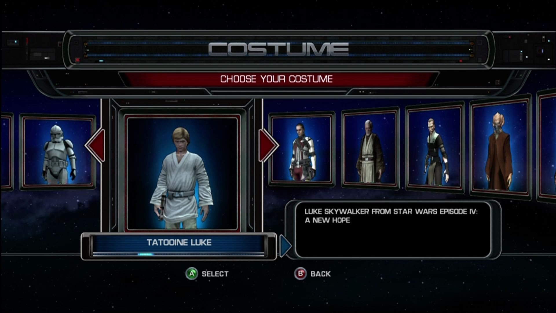 Cheats on Star Wars: The Force Unleashed