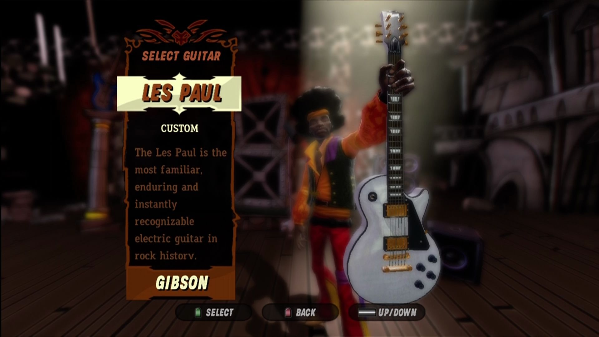 Guitar Hero III: Legends of Rock Xbox 360 You can customize your clothing and guitar.