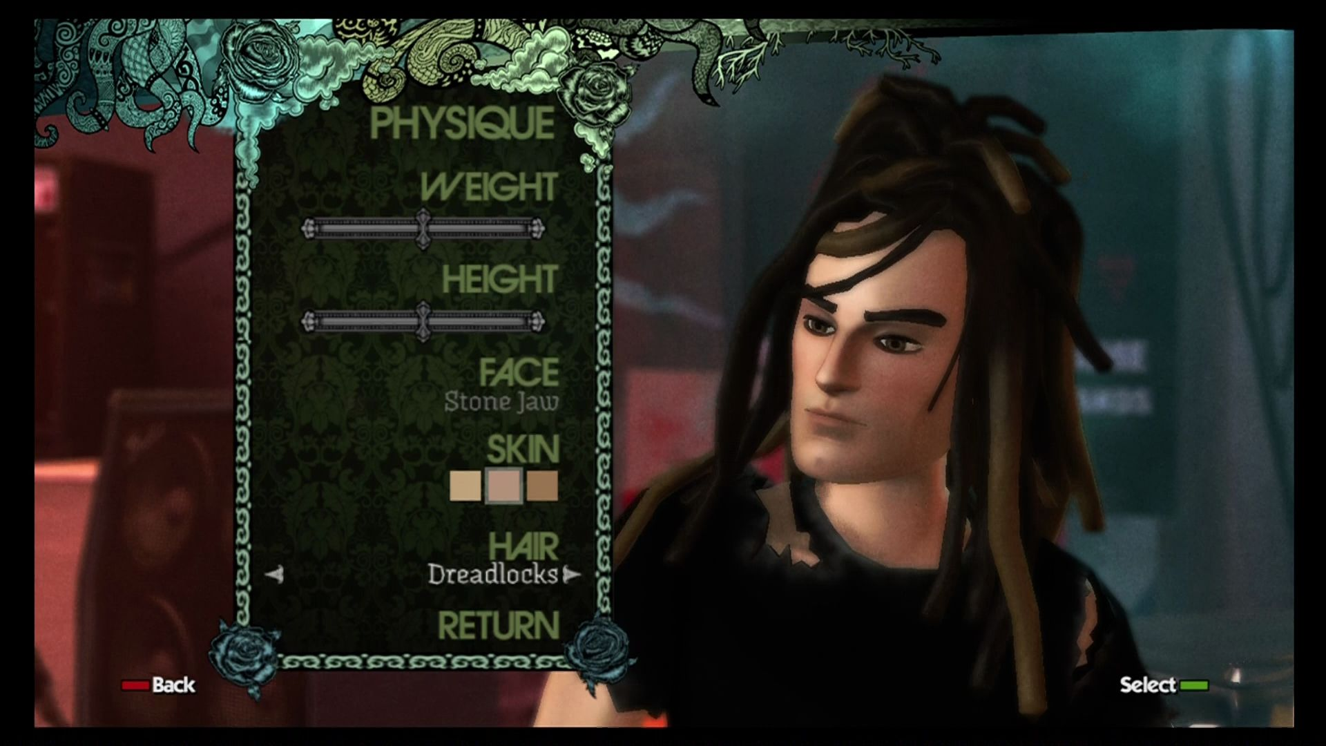 Design Your Character Games : Rock band screenshots for xbox mobygames