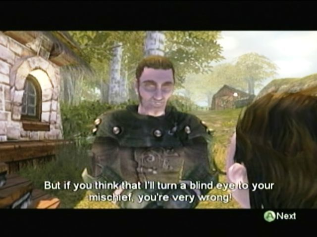 Fable Xbox Talking with father